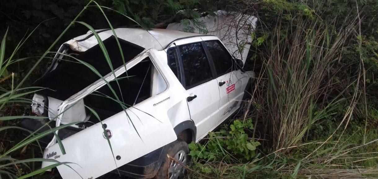 Veículo da Saúde de Vila Nova se envolve em acidente na BR 316, em Valença no PI