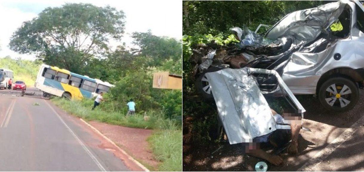 Comerciante morre ao colidir carro de passeio com ônibus no interior do Piauí