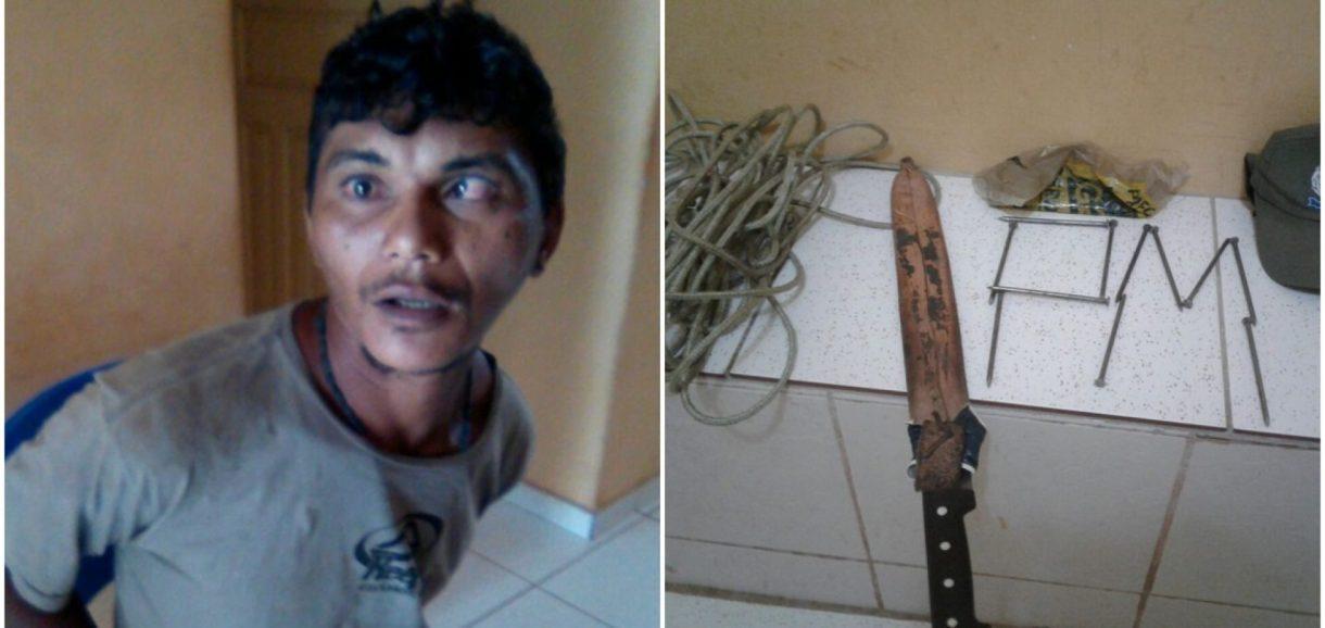 INHUMA | Homem com problemas mentais e armado causa pânico em escola