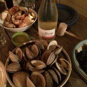 Levity Cider with shellfish
