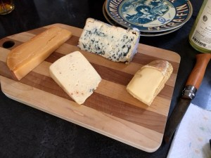 Gouda, Blue, Stinky and jalapeno pepper cheese used in the pairing