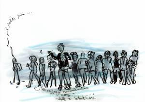 Dessin de Marie Thoisy-Lounis pour le projet Comme une rolling stone - Zart Compagnie
