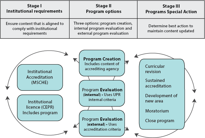 Figure 2. Process for improving and strengthening institutional programs