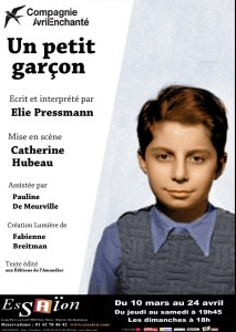 """Théâtre """"Un petit garçon"""" Affiche"""