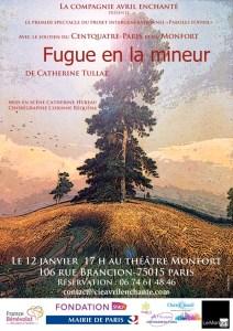"""Théâtre """"Fugue en la mineur"""" Affiche"""