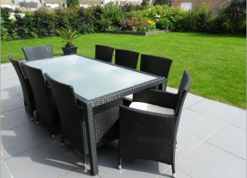 Salon De Jardin Pvc Vert | Table Fer Jardin