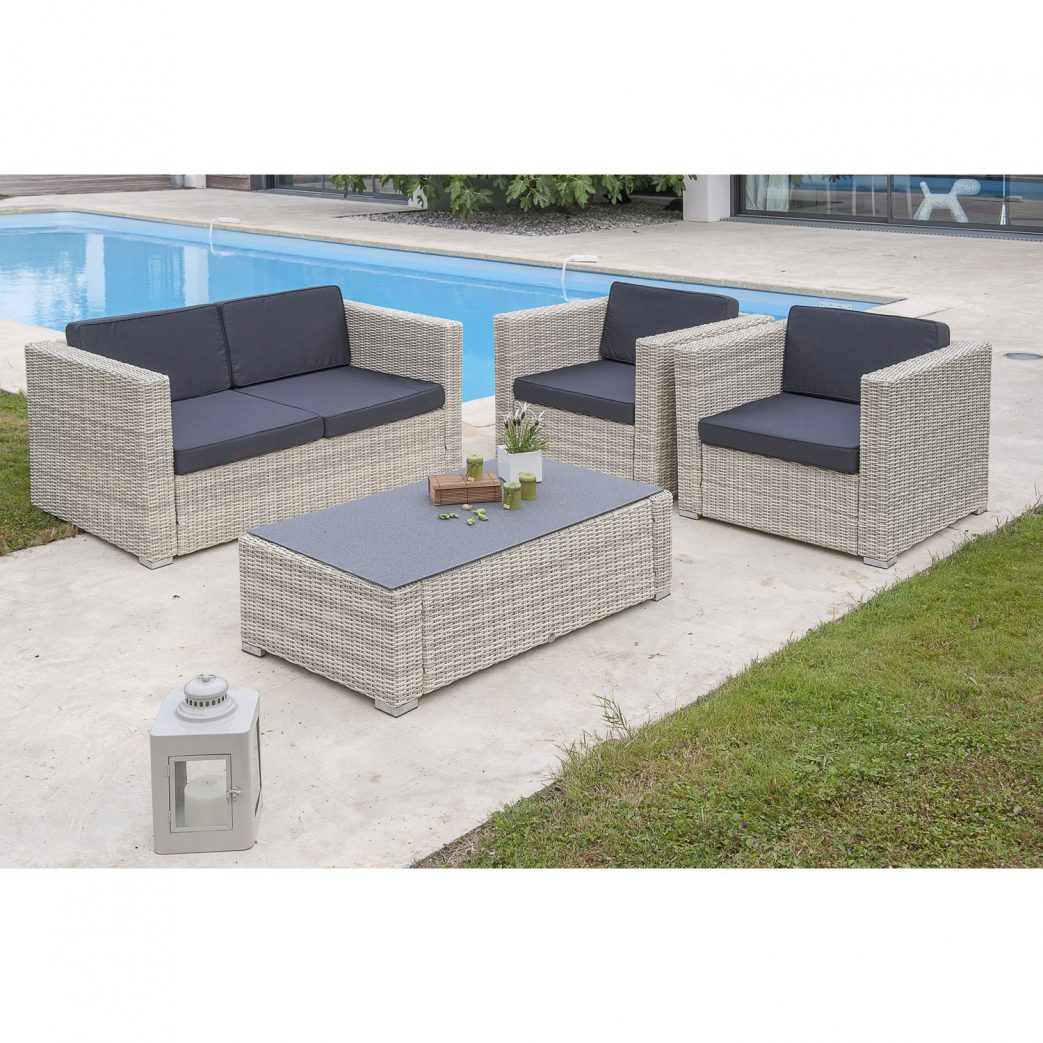 Salon De Jardin En Resine Tressee Taupe | Table Salon De Jardin En ...