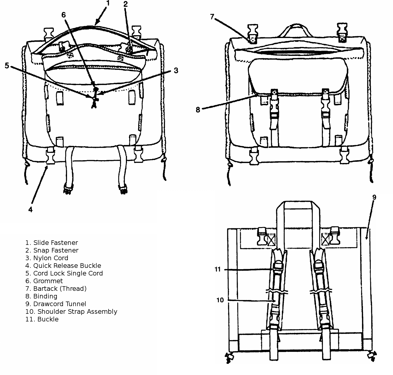 Iifs Large Field Pack With Internal Frame And Combat