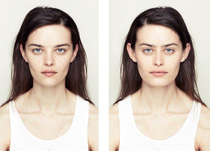 symetryczność twarzy