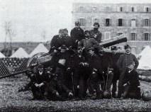 Gardes mobiles au siège de Paris
