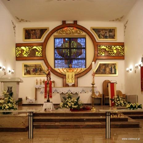 ołtarz kościoła Narodzenia św. Jana Chrzciciela w Cielmicach