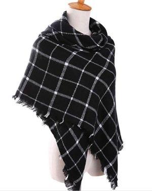 Plaid wrap scarf
