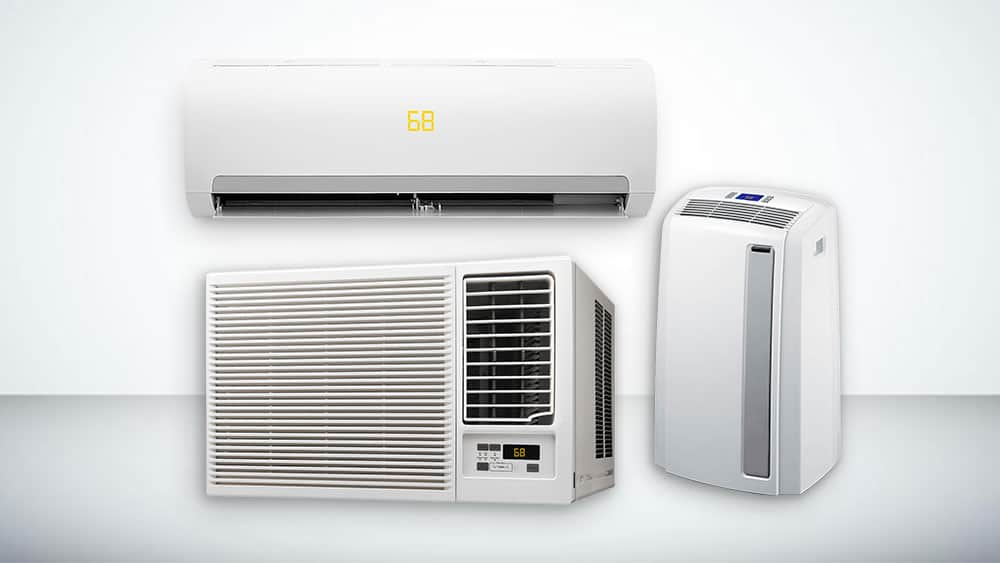 Types of ductless heat pumps.