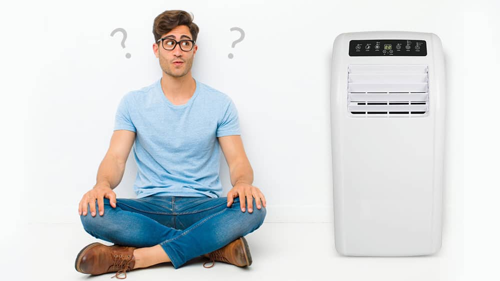 Man thinking to buy a heat pump.