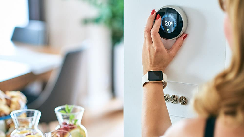 Smart programmable thermostat.