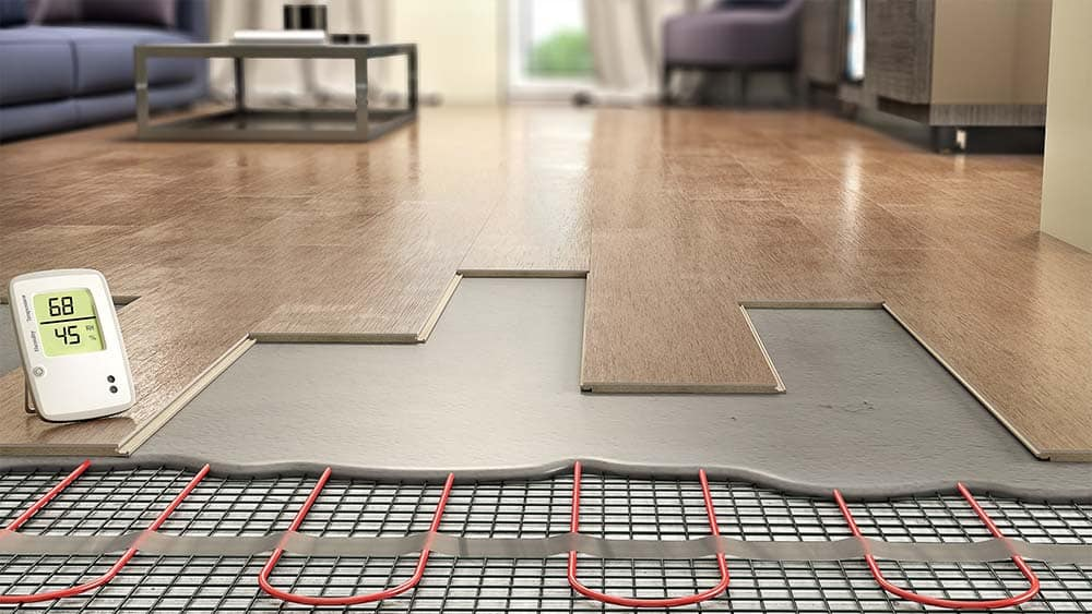 Underground radiant floor heating -  pros and cons.