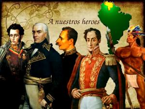 Poema Heroes libertadores de Venezuela