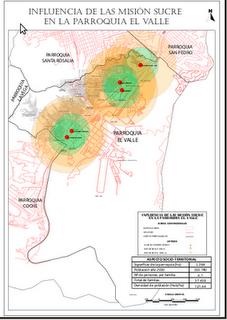 Area influencia Misión Sucre GvSIG