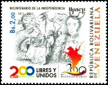 Estampillas Bicentenario de Venezuela