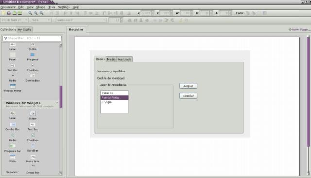Prototipo GUI Pencil Software Libre