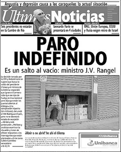 titulares sabotaje petrolero 2002