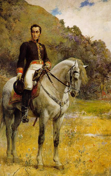Obra Arturo Michelena - Retrato ecuestre de Bolivar - 1888