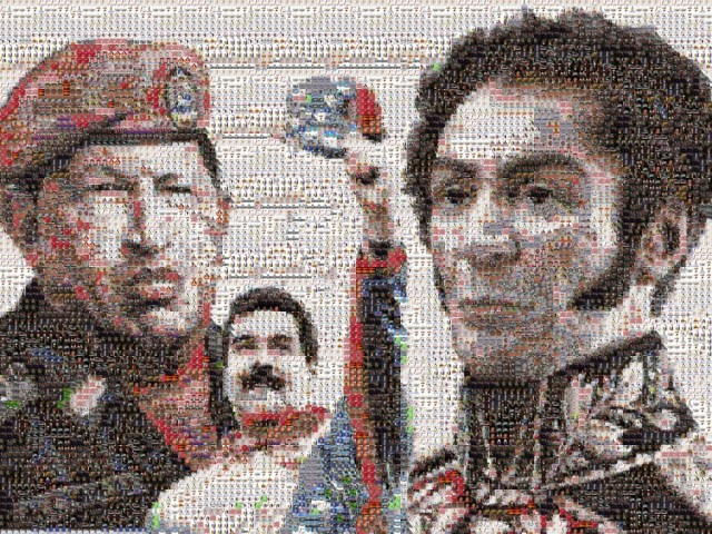 Con Bolívar, Chávez y Maduro somos millones.