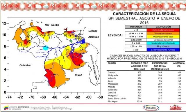 Caracterización de la sequía en Venezuela