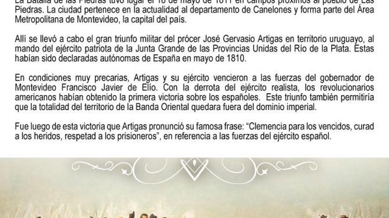 La Batalla De Las Piedras En Uruguay Gran Triunfo Militar