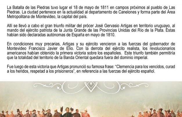La Batalla de las Piedras en Uruguay, gran triunfo militar de José Gervasio Artigas
