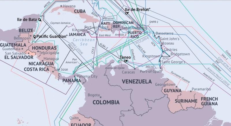 Cables submarinos en América Latina, se profundiza la dependencia de EEUU