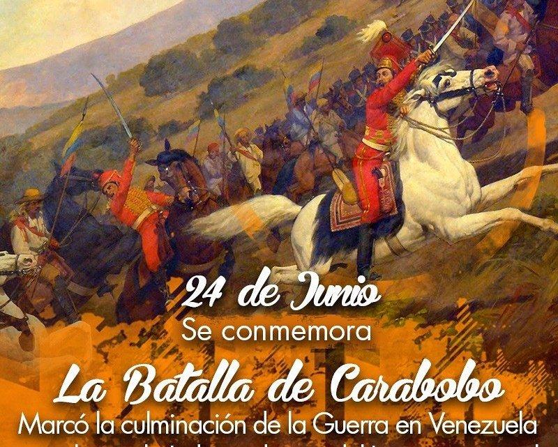 La unidad patriota resume la Batalla de Carabobo del 24 de junio de 1821