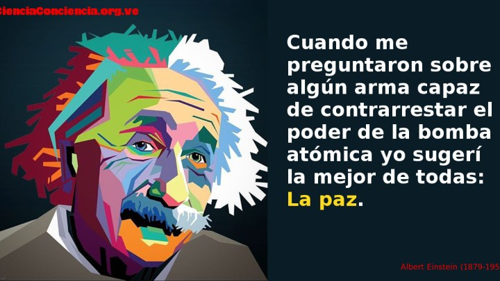 Frases sobre la Paz de Albert Einstein
