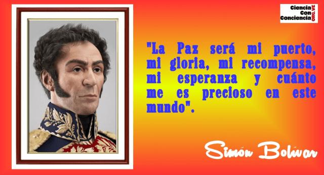 Frases de Simón Bolívar sobre la Paz