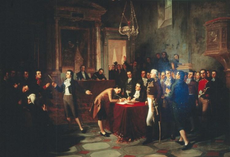 Cronología de la declaración de la independencia de Venezuela 5 de Julio de 1811