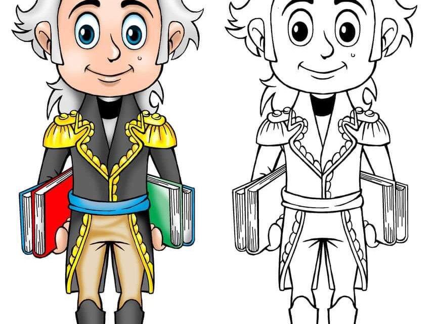 Dibujos de historia de Venezuela para colorear para niñas y niños