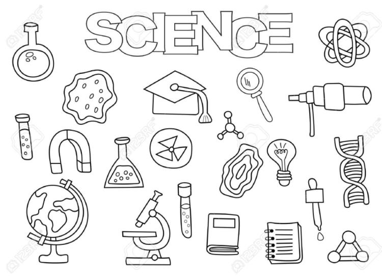 ciencia para colorear en casa niños y niñas