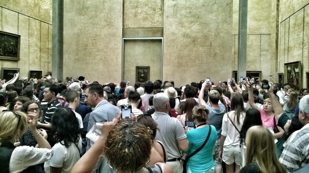 Selfie z Mona Lisą