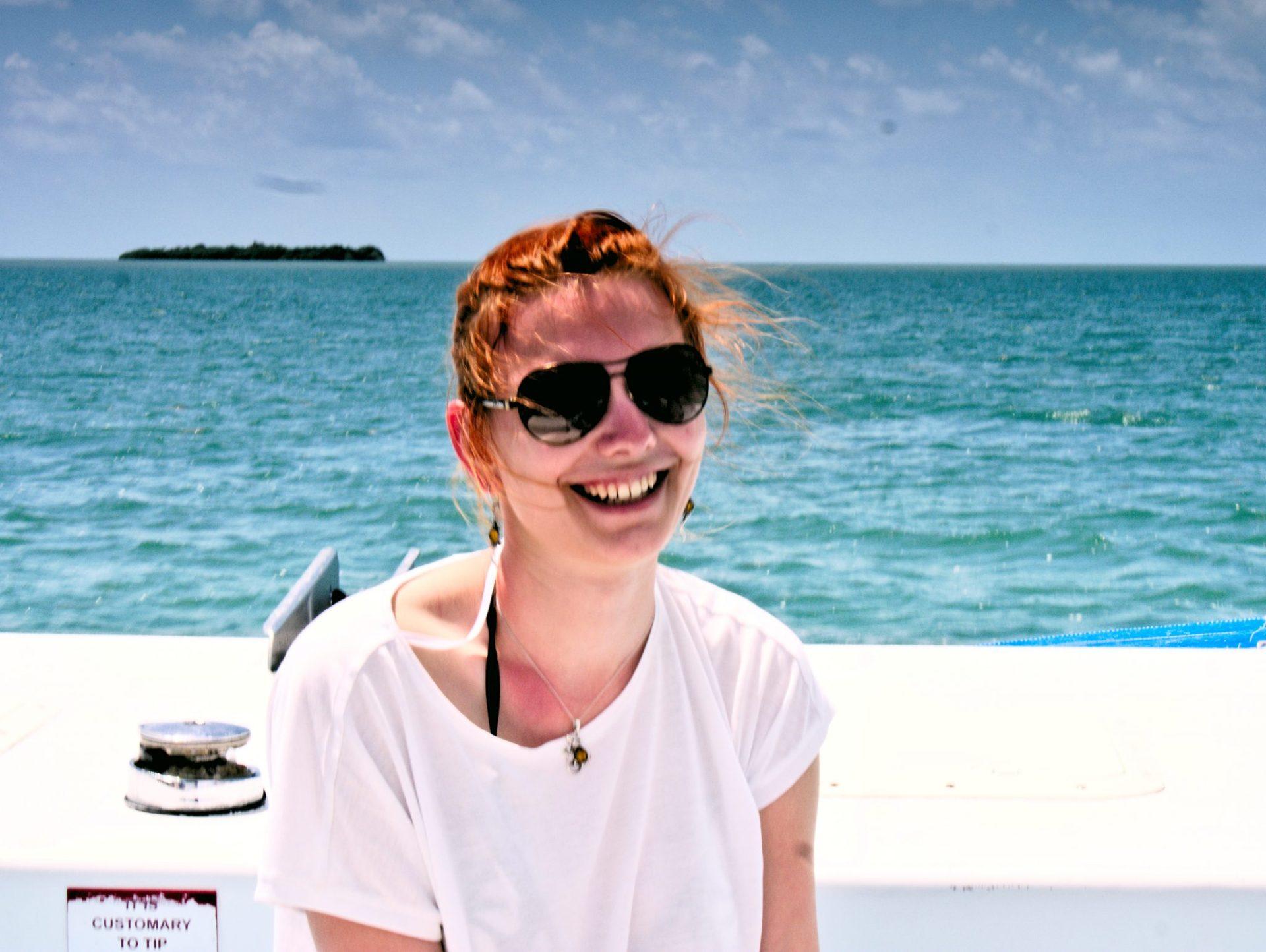 Radosny Cieplik na łódce