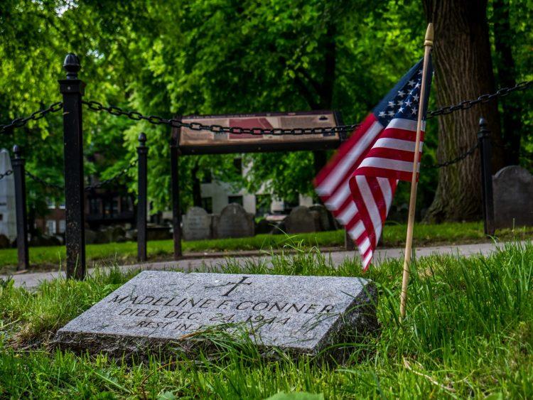 Cmentarz na trasie Freedom Trail