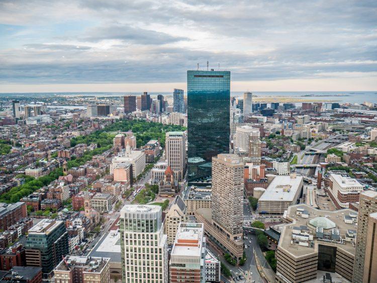 Widok na Boston z Prudential Tower