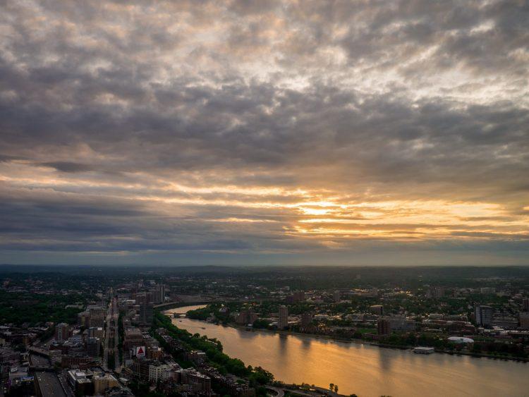 Zachód słońca w Bostonie