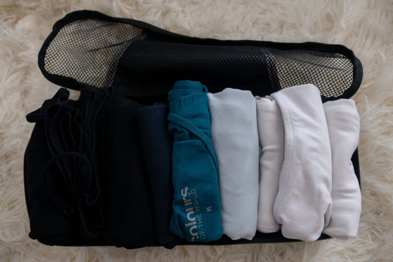 Moje koszulki w packing cube
