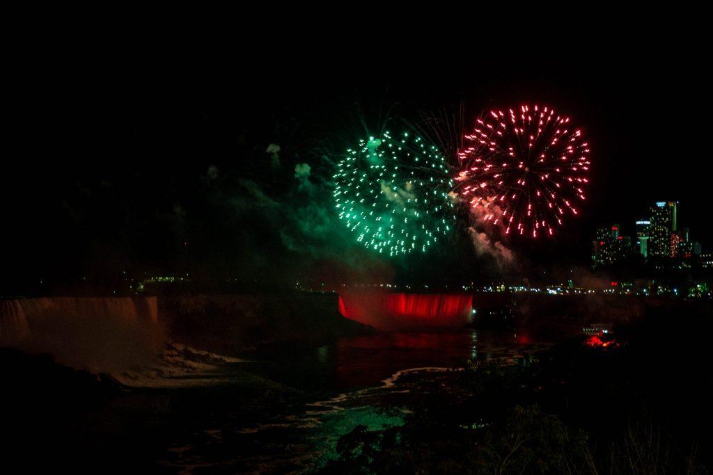 Iluminacje i fajerwerki, Niagara Falls