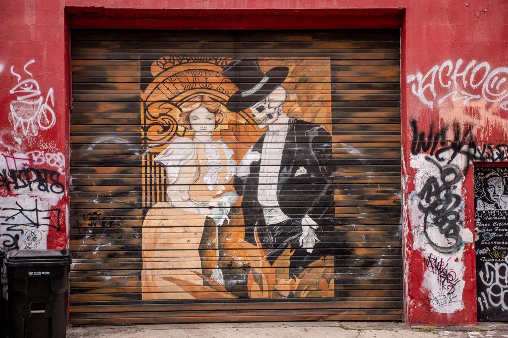 Jeden z wielu murali w Dzielnicy Francuskiej, Nowy Orlean