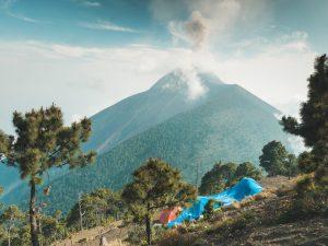 Nasz obóz na Acatenango, Fuego w tle :)