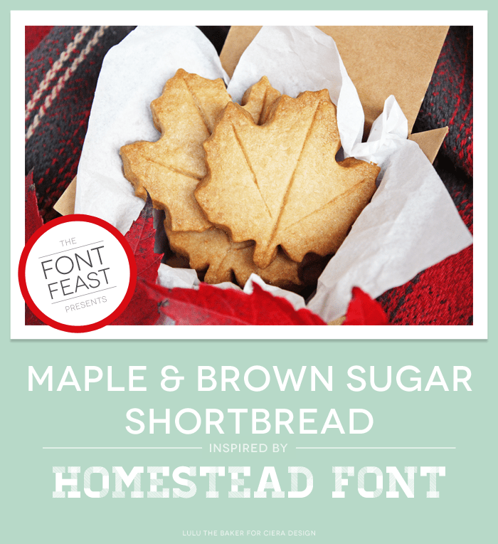 maple brown sugar shortbread cookies