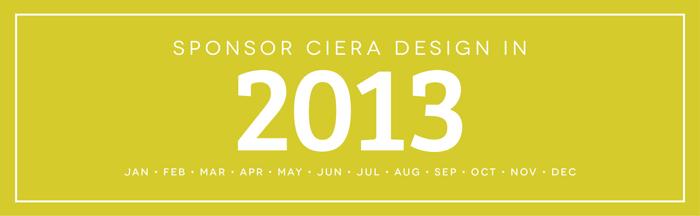 Sponsor Ciera Design in 2013