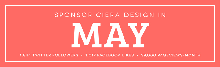 Sponsor Ciera Design and Lifestyle Blog May