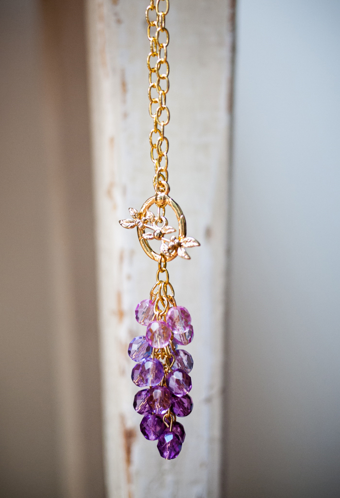 Ombre Cluster Necklace DIY Martha Stewart Jewelry